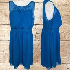 Tevolio Blue Sheer Sheath Dress Size 16W